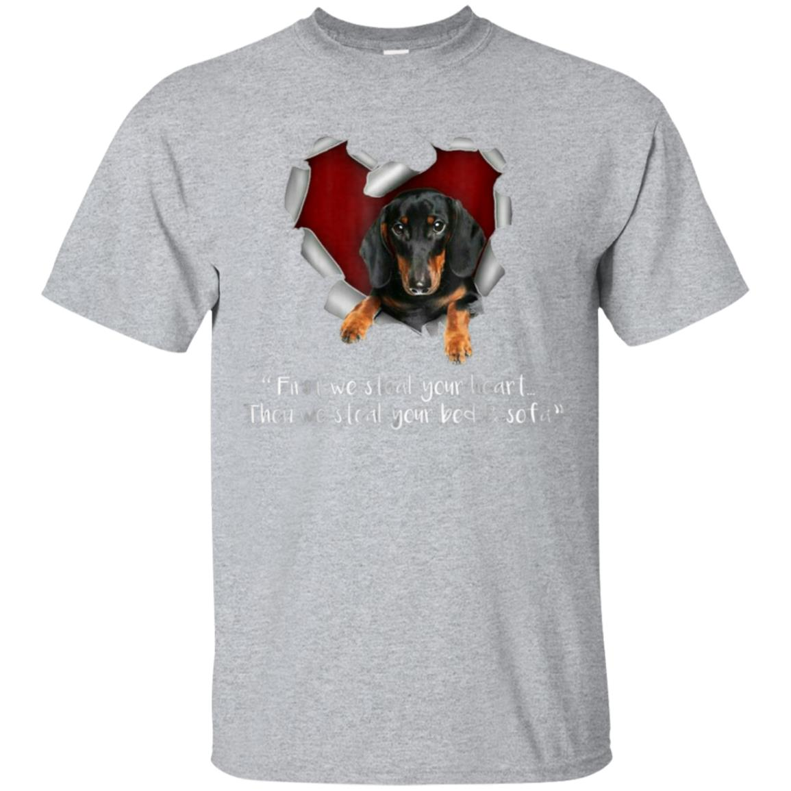 Dachshund Tshirt - First We Steal Your Heart 99promocode