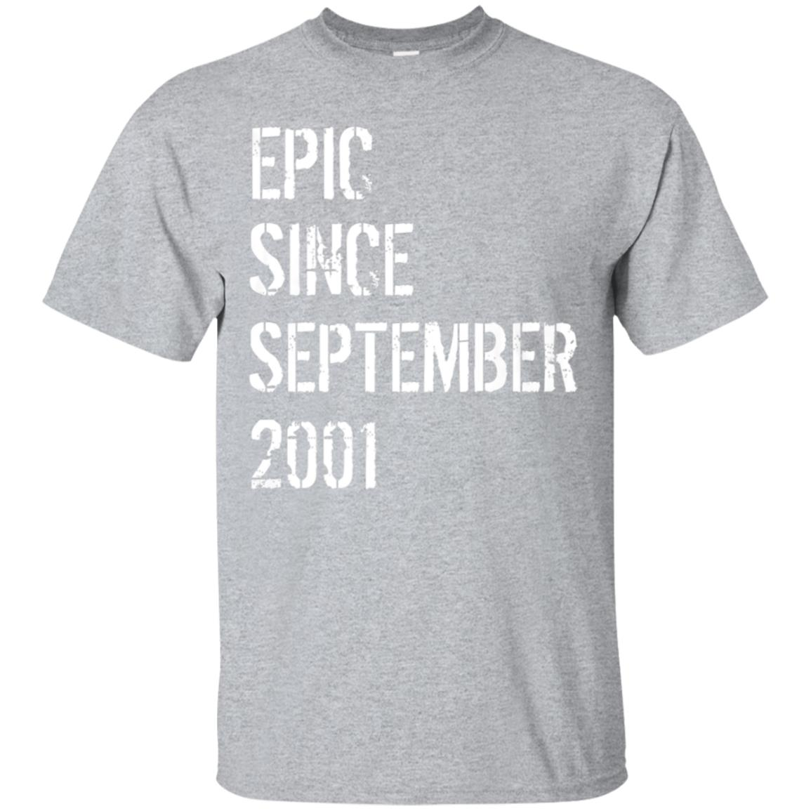 Born In September 2001 Birthday Gift T-Shirt 17 Year Old 99promocode