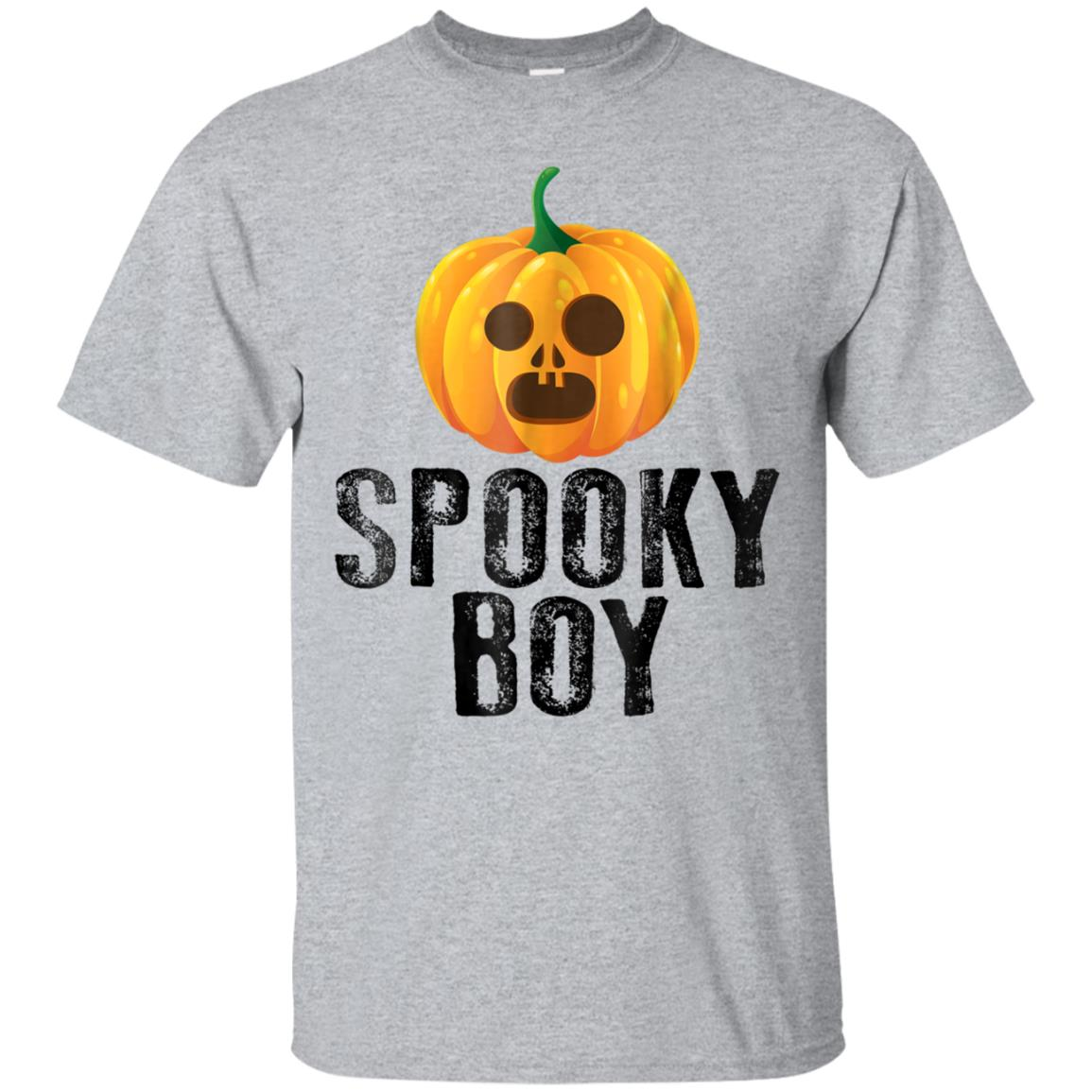 Halloween Pumpkin Shirt Spooky Boy Funny Scary Gift Vintage 99promocode