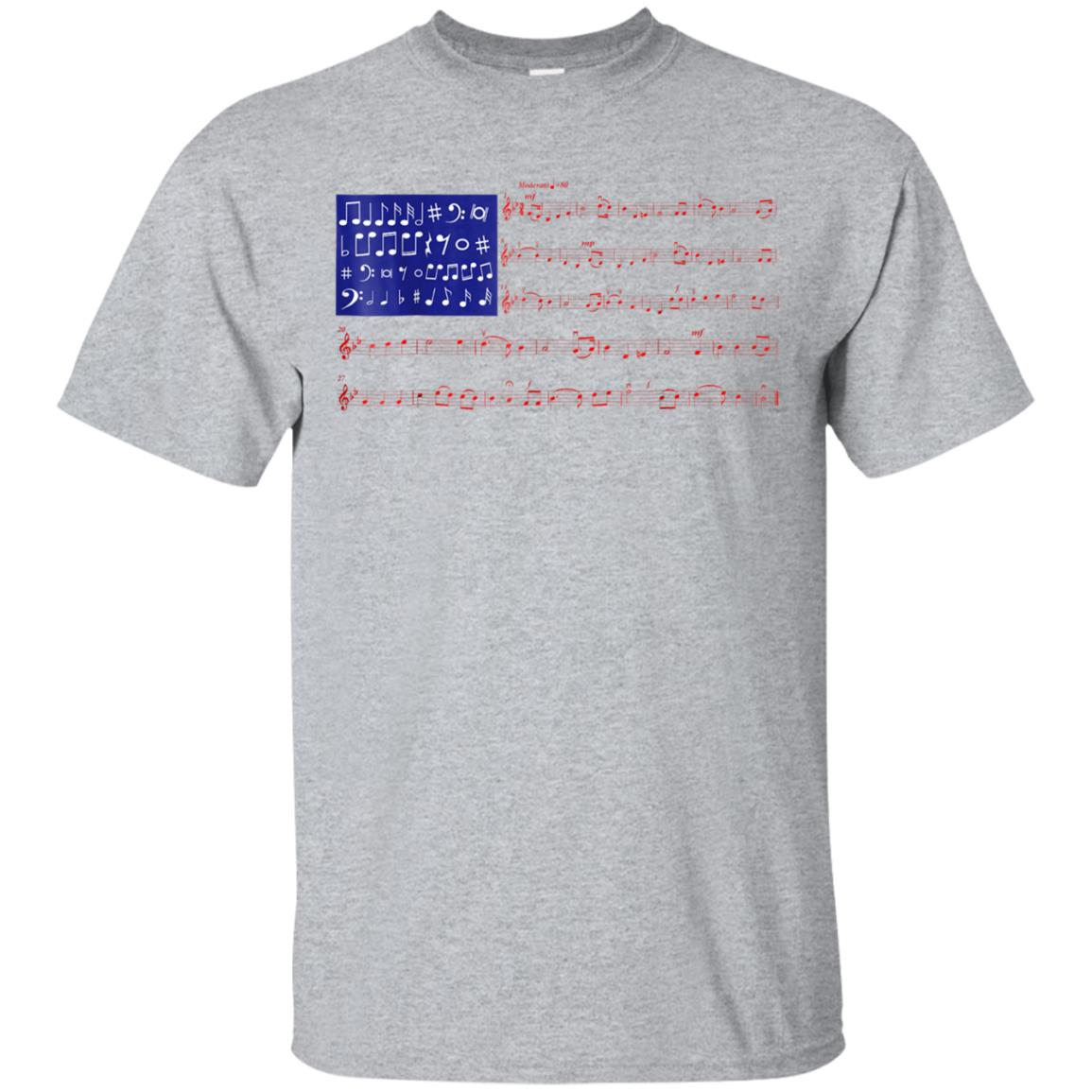 4th Of July Independence Music Note USA Flag Shirt 99promocode