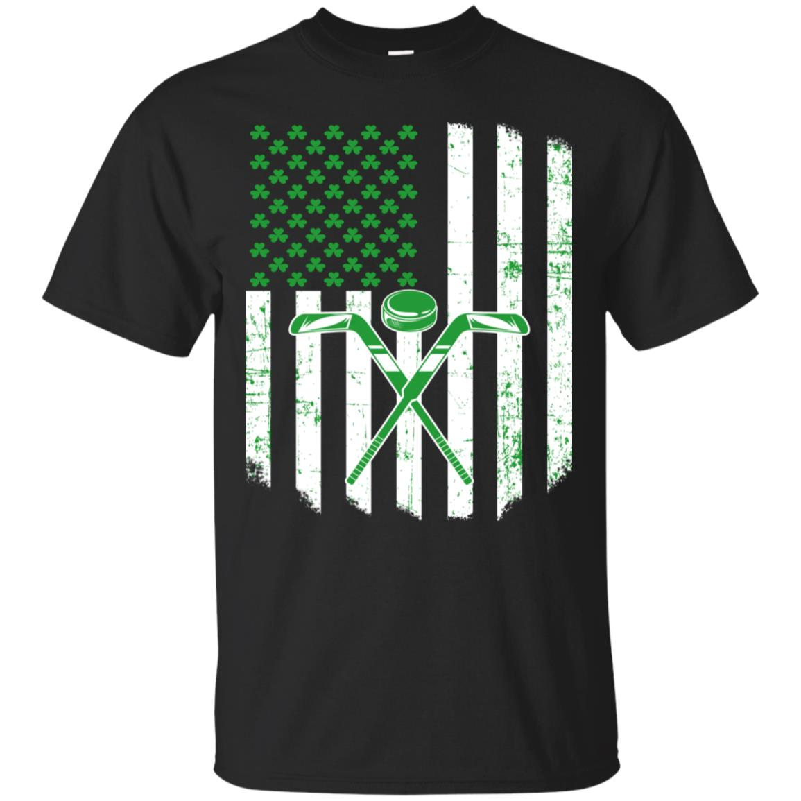 Saint Patrick Gift For Ice Hockey USA Flag Irish Shamrock 99promocode