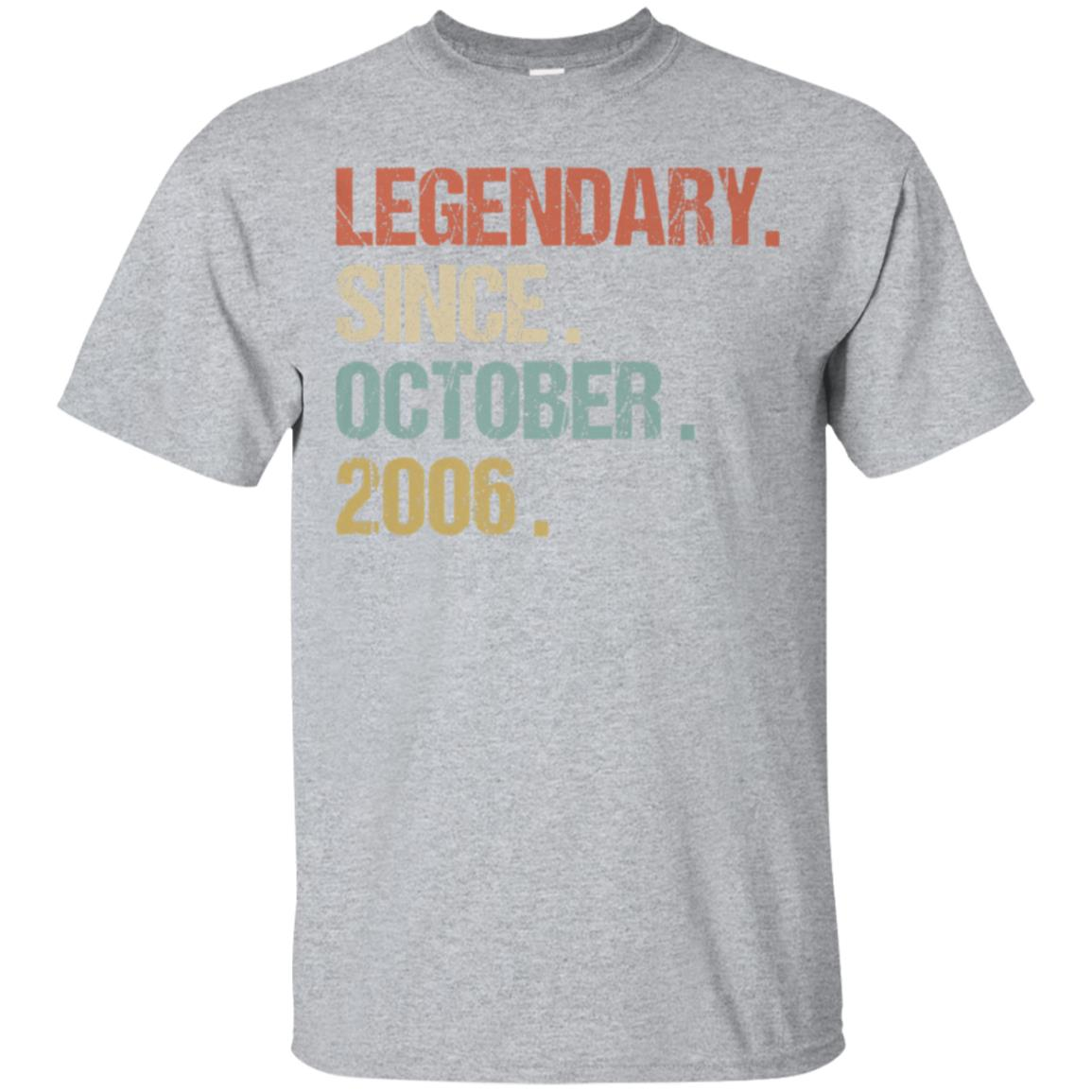 12th Birthday Gift Legendary Since October 2006 Shirt Retro 99promocode