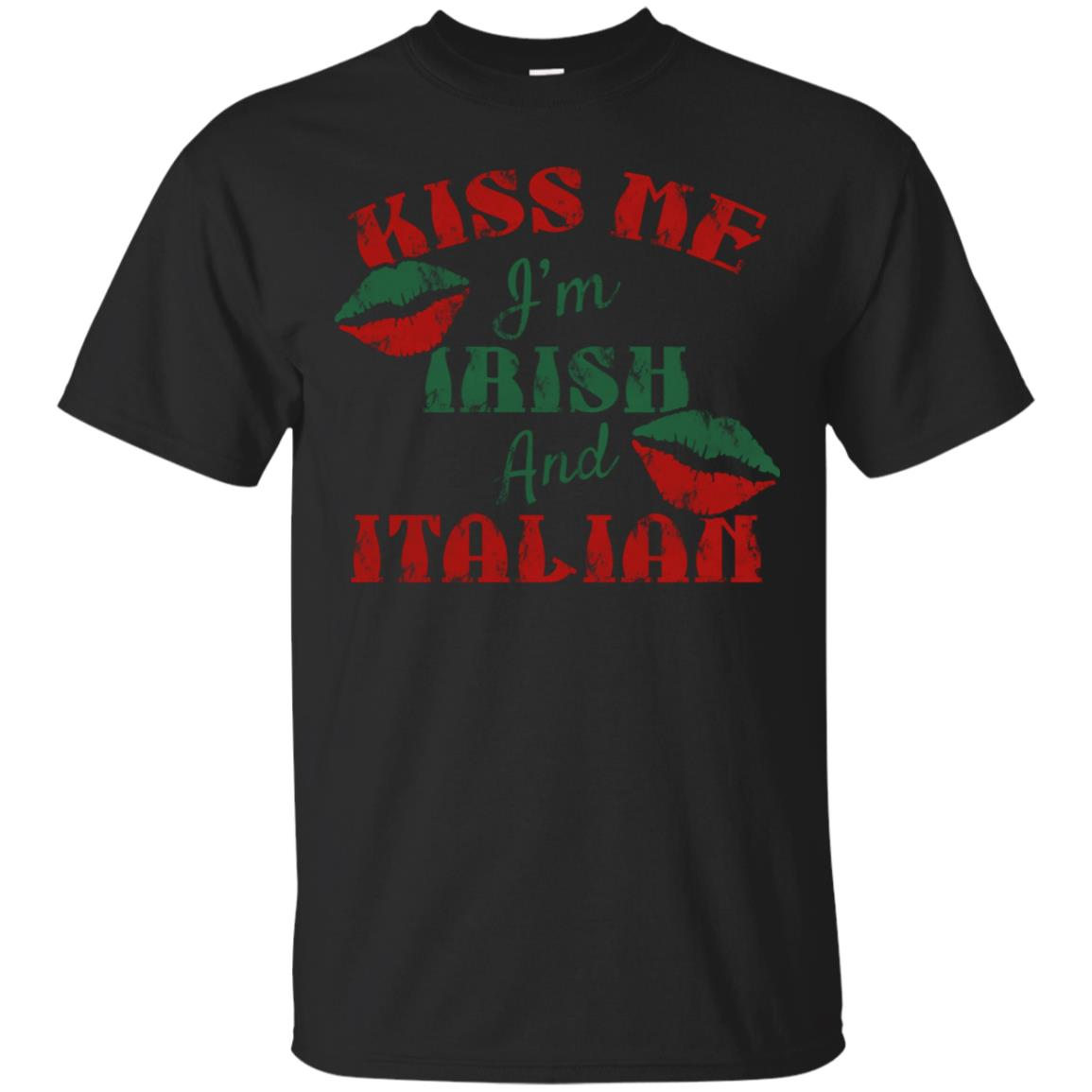 St Patrick's Day Kiss Me I'm Irish and Italian T Shirt 99promocode