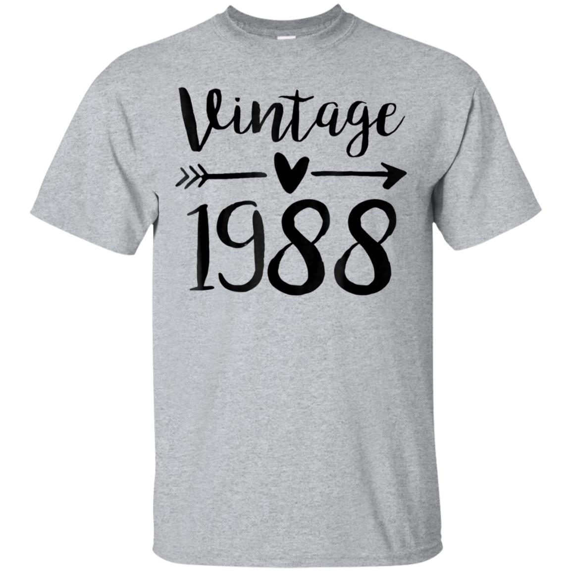 Vintage 1988 Cute Birthday Women Gift 30th Birthday Shirt 99promocode