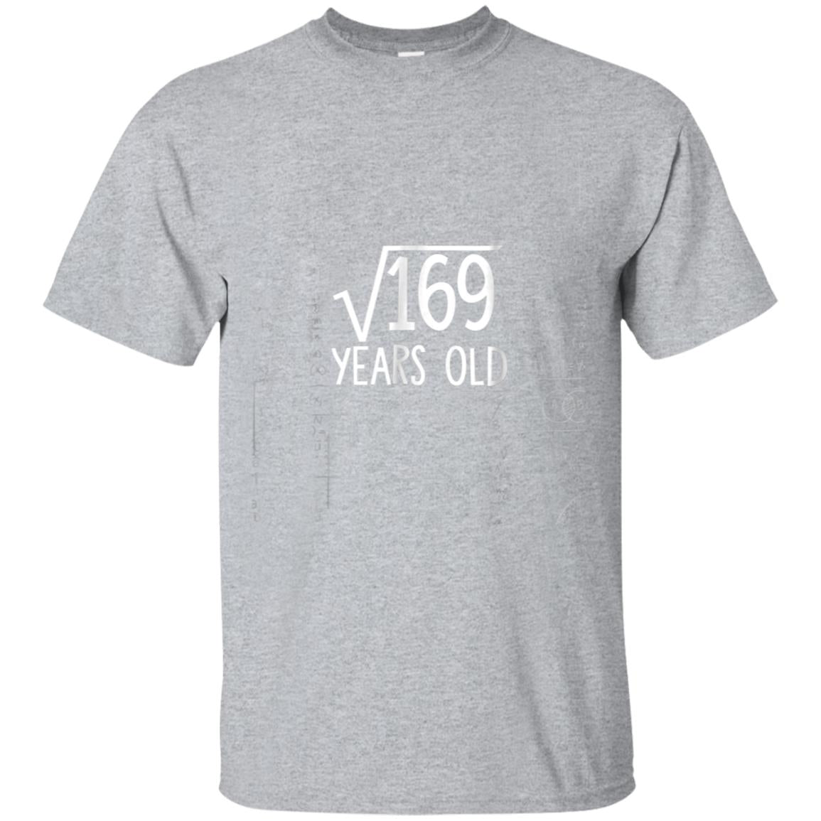 Square Root of 169 13th Birthday 13 Years Old T-Shirt 99promocode