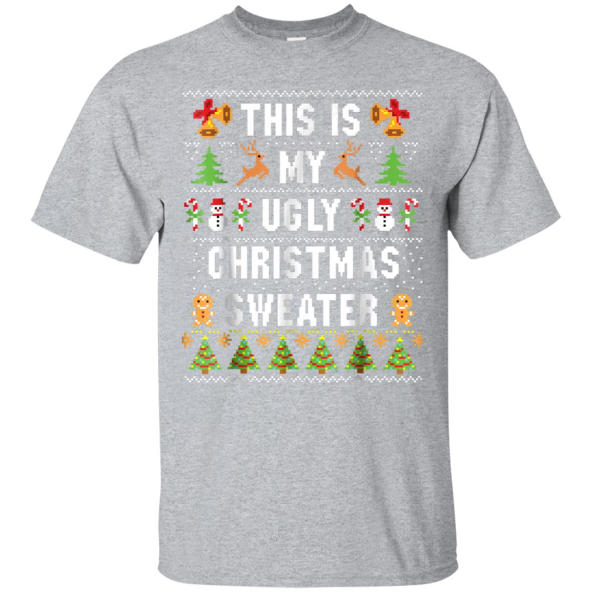 Ugly Christmas Sweater Funny.This Is My Ugly Christmas Sweater Funny Holiday T Shirt