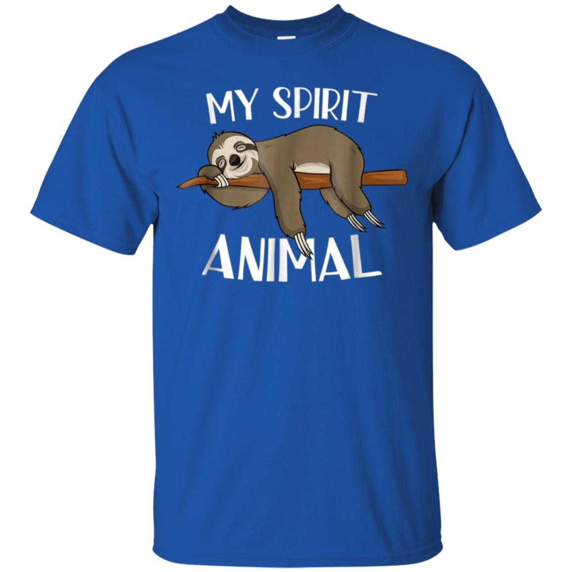653cb26d7 Awesome my spirit animal funny sloth t shirt lazy napping gift tee ...