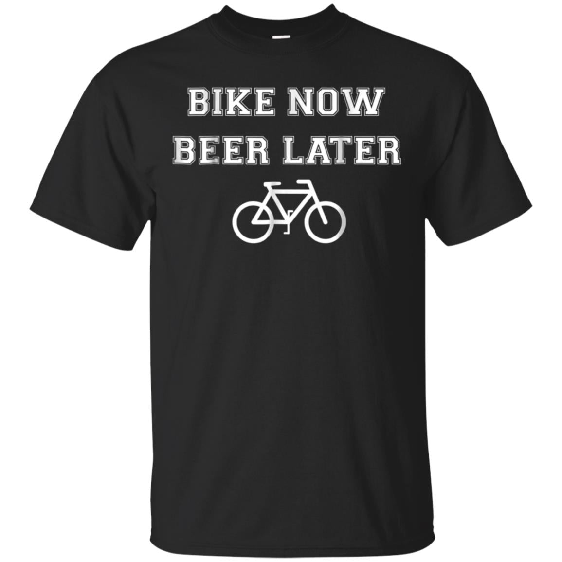 Bike Now Beer Later Funny Bicycling T Shirt 99promocode