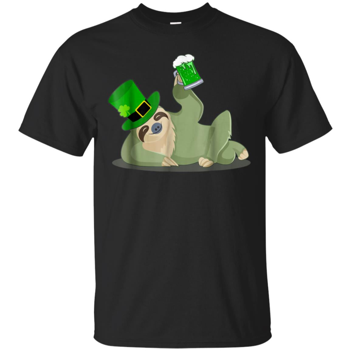 Sloth Green Beer Drinking St Patrick's Day T-Shirt 99promocode