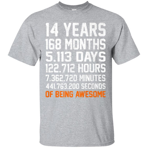 14th Birthday Shirt Gift 14 Years Old Being Awesome 2004 Tee