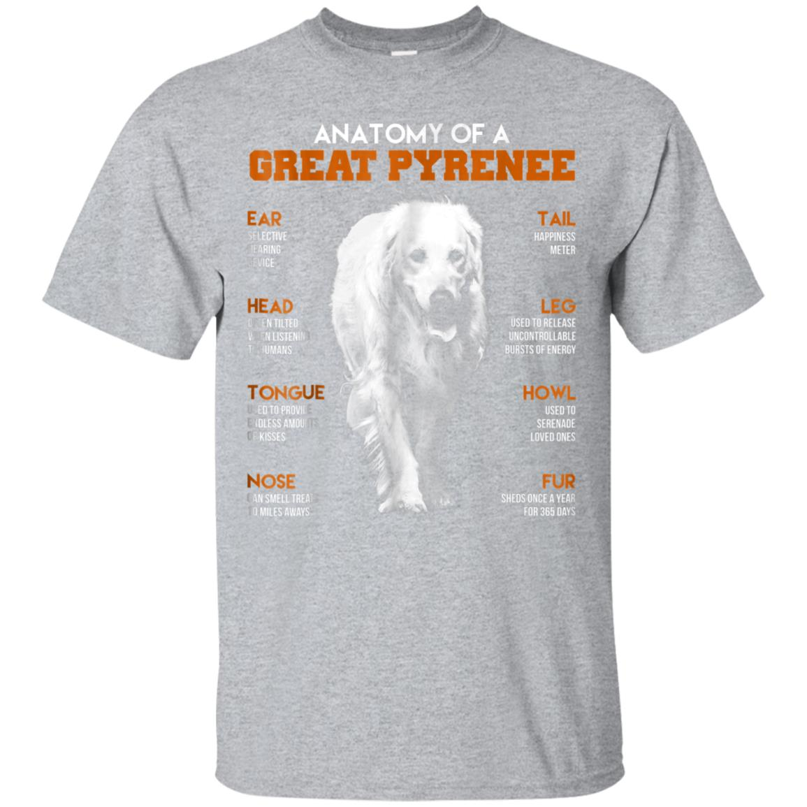 Anatomy Of A Great Pyrenee Dogs T Shirt Funny Gift 99promocode