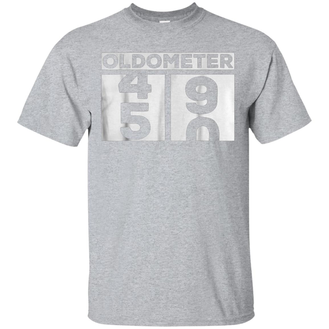 3458b208c Awesome oldometer 50 years old t shirt made in 1968 50th birthday ...