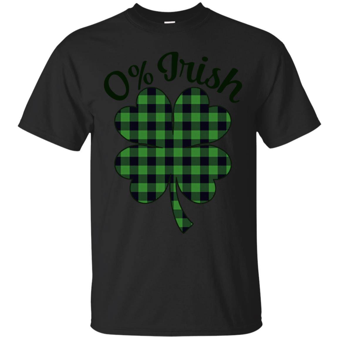 0% Irish T-shirt Green Buffalo Plaid St Patricks Day Shirt 99promocode
