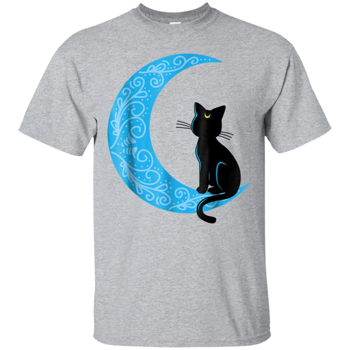 Black Cat Crescent Moon Sailor Mom T-Shirt 99promocode