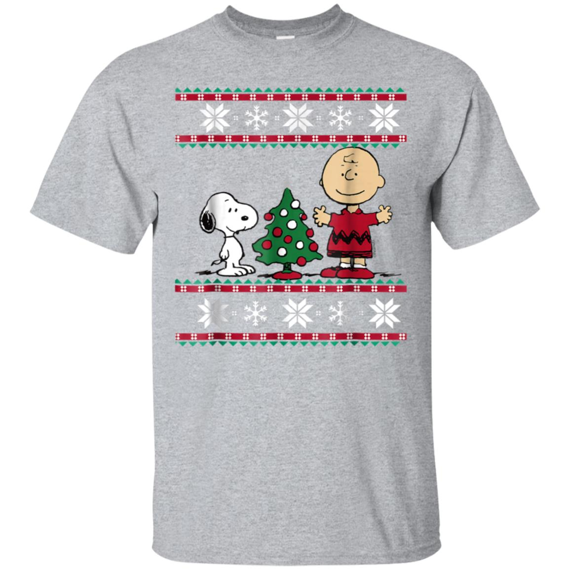 Peanuts Snoopy and Charlie Christmas T-shirt 99promocode