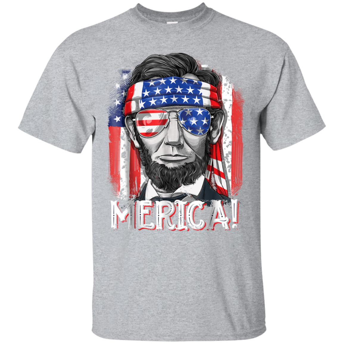 4th of July Shirts for Men Merica Abe Lincoln Boys Kids Gift 99promocode