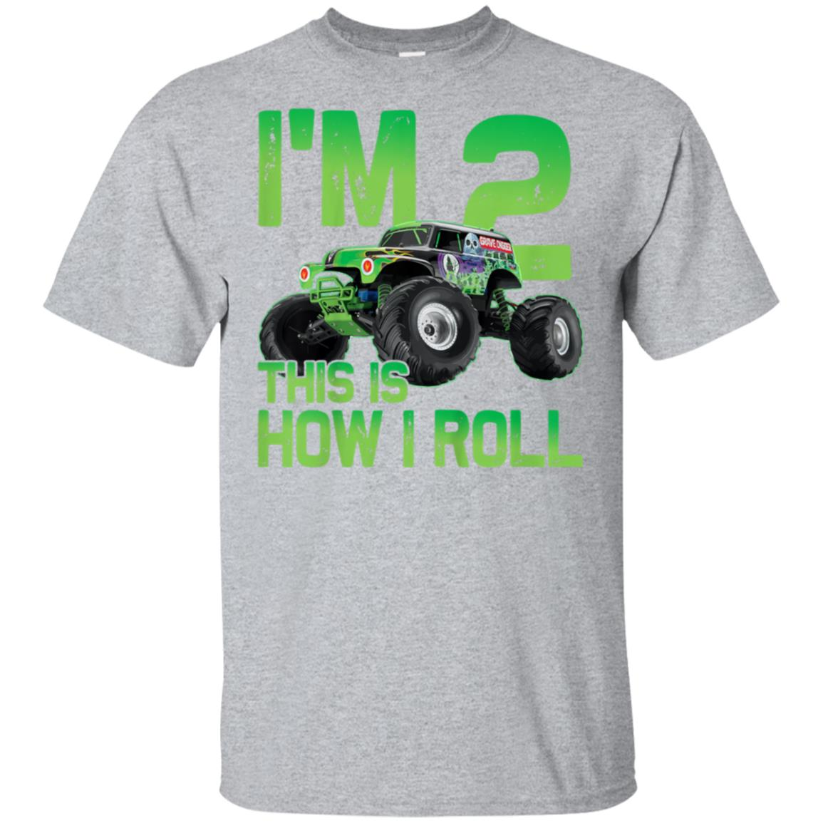 30a1fa1b8 Awesome kids 2 years old 2nd birthday monster truck car shirt boy son -  99promocode