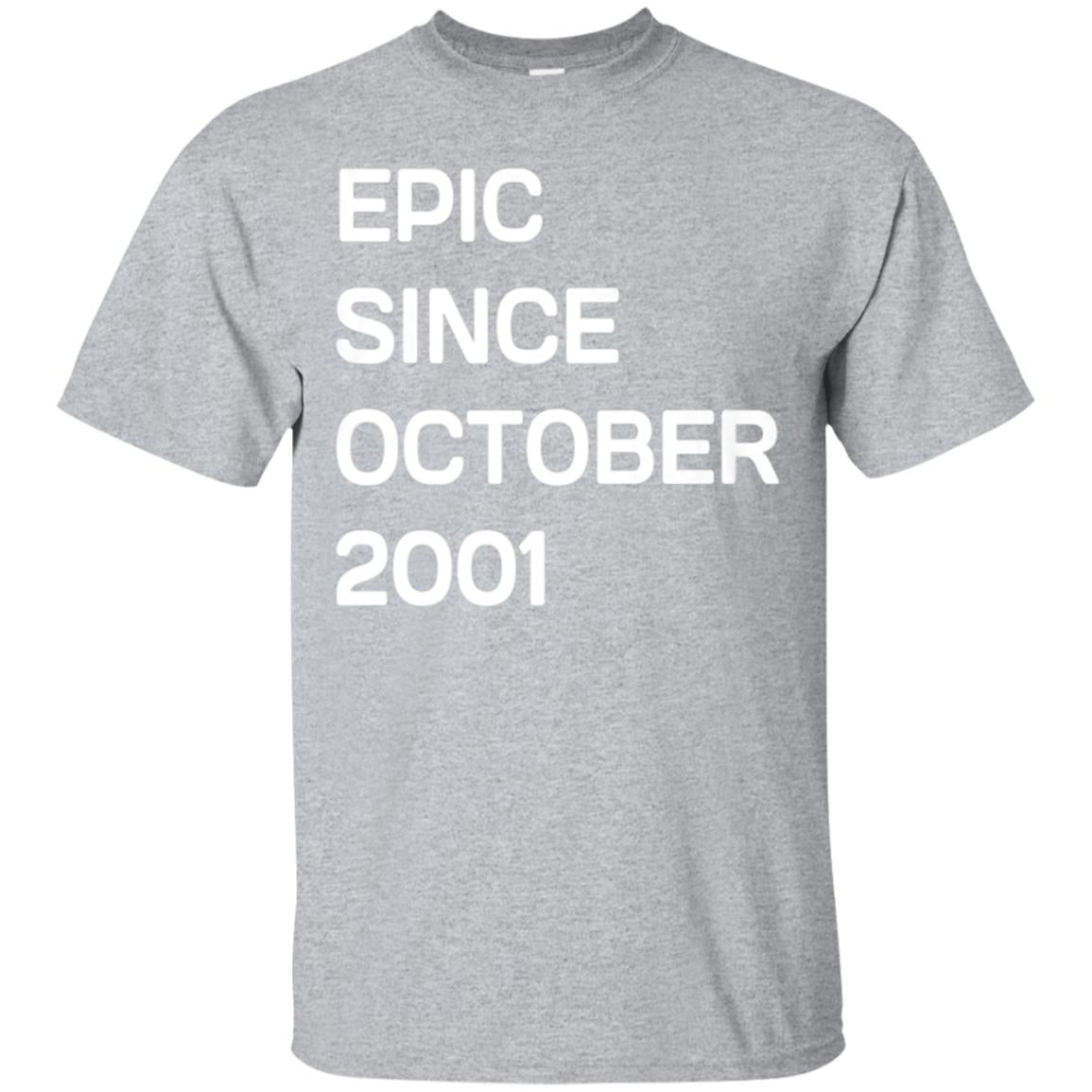 Born In October 2001 Birthday Gift T-Shirt 17 Year Old Tee 99promocode