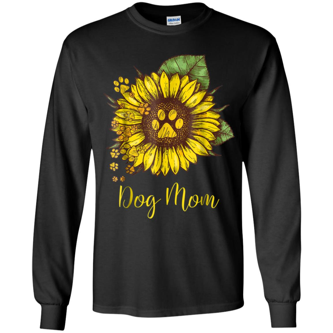 0efc8e4fbaed Awesome sunflower dog mom paw t shirt funny gift for men women ...