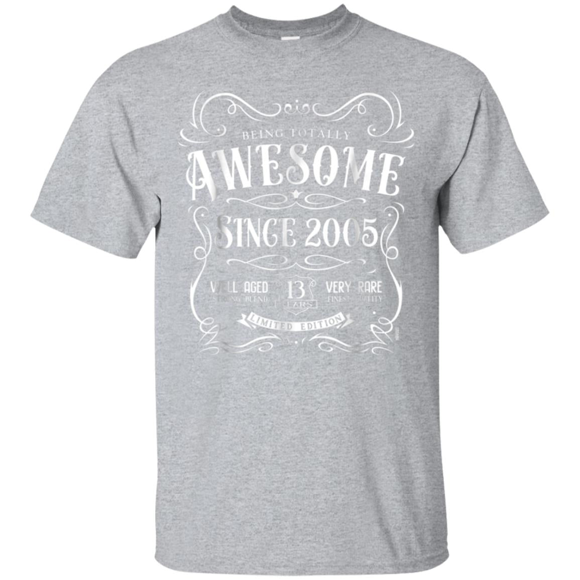 13th Birthday Gift T-Shirt Awesome Since 2005 99promocode