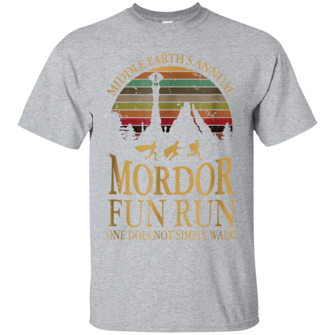 6c4a2254 Awesome vintage retro middle earth's annual mordor fun run t shirt ...