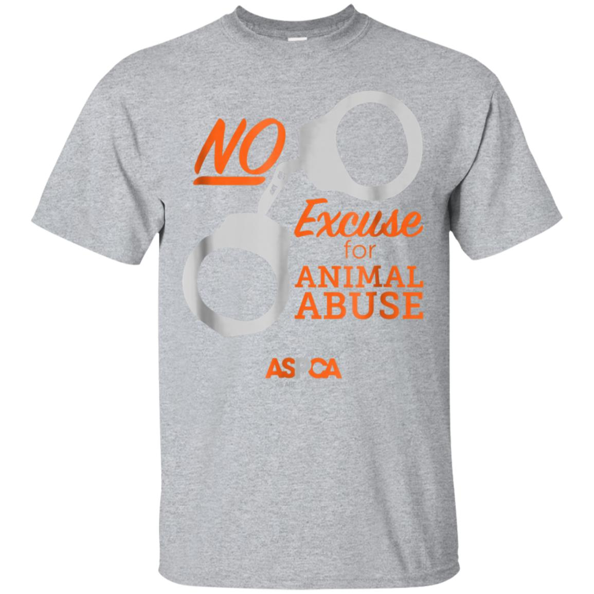 ASPCA No Excuse for Animal Abuse T-Shirt Light 99promocode