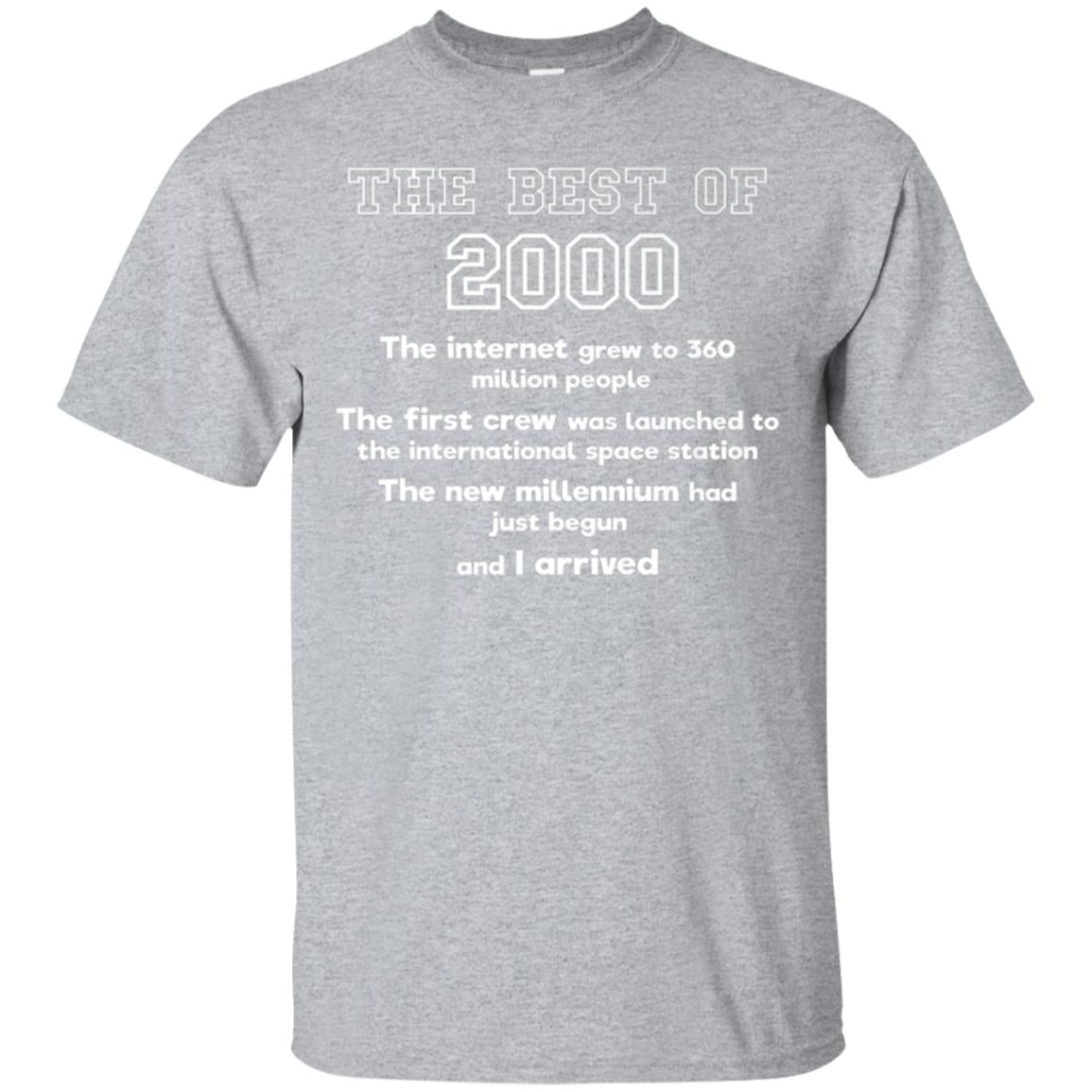 2000 18th birthday T shirt gift for 18 year old boys & girls 99promocode