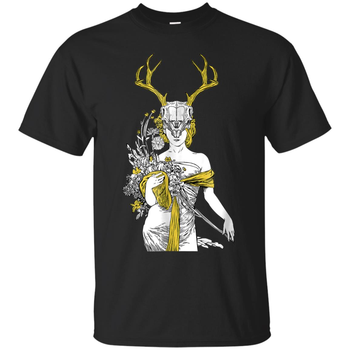 Witch T-shirt - Village Witch Pagan Wicca Deer Skull 99promocode