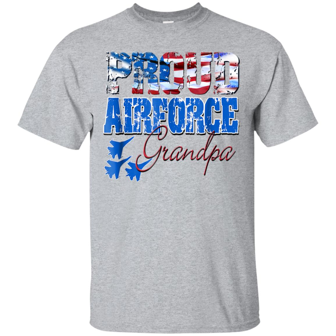 Proud Air Force Grandpa Shirt USA Flag Men 99promocode