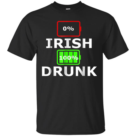 0 Irish 100 Percent Drunk Funny St Patricks Day T Shirt