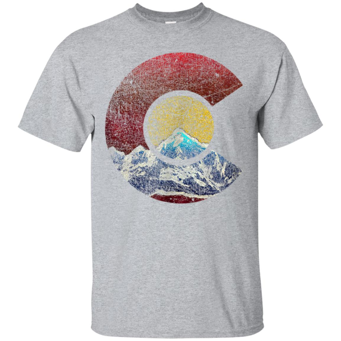 Colorado Shirt with Flag Themed Mountain 99promocode