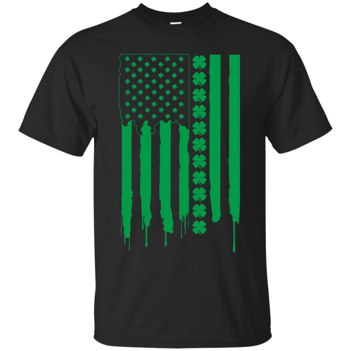 St Patrick's Day Irish American Flag Shirt - Patty's Day Tee 99promocode