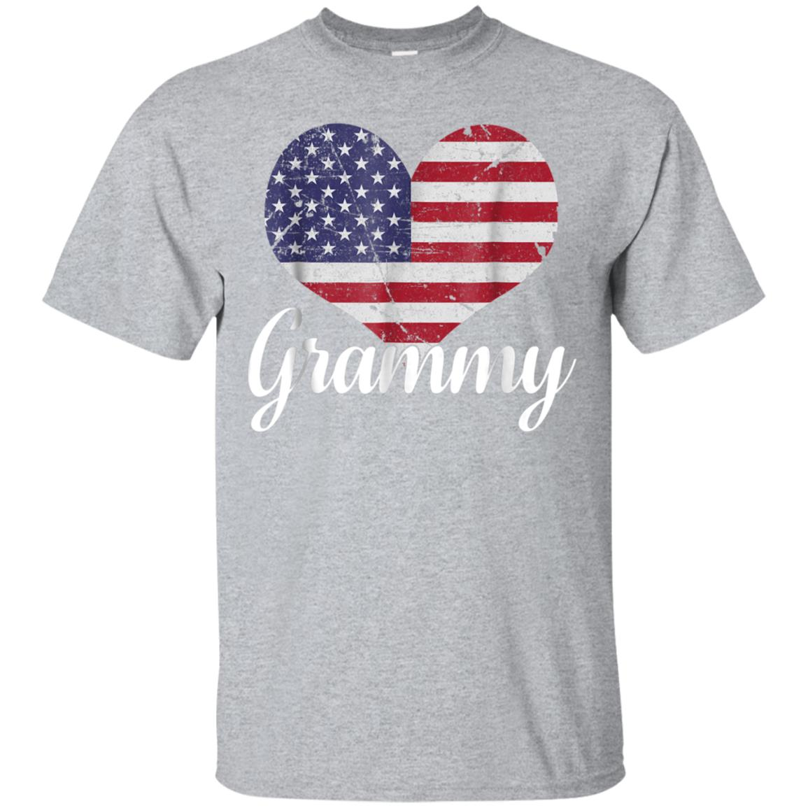 Grammy USA Heart Flag T-Shirt Grammy American Flag 99promocode