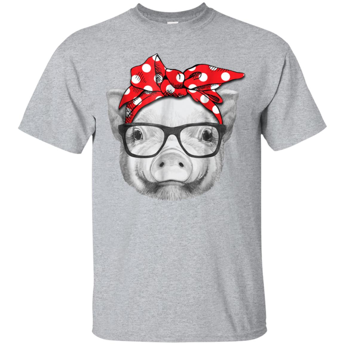 Pig Bandana Cute Tee Shirt For Girl and Women 99promocode