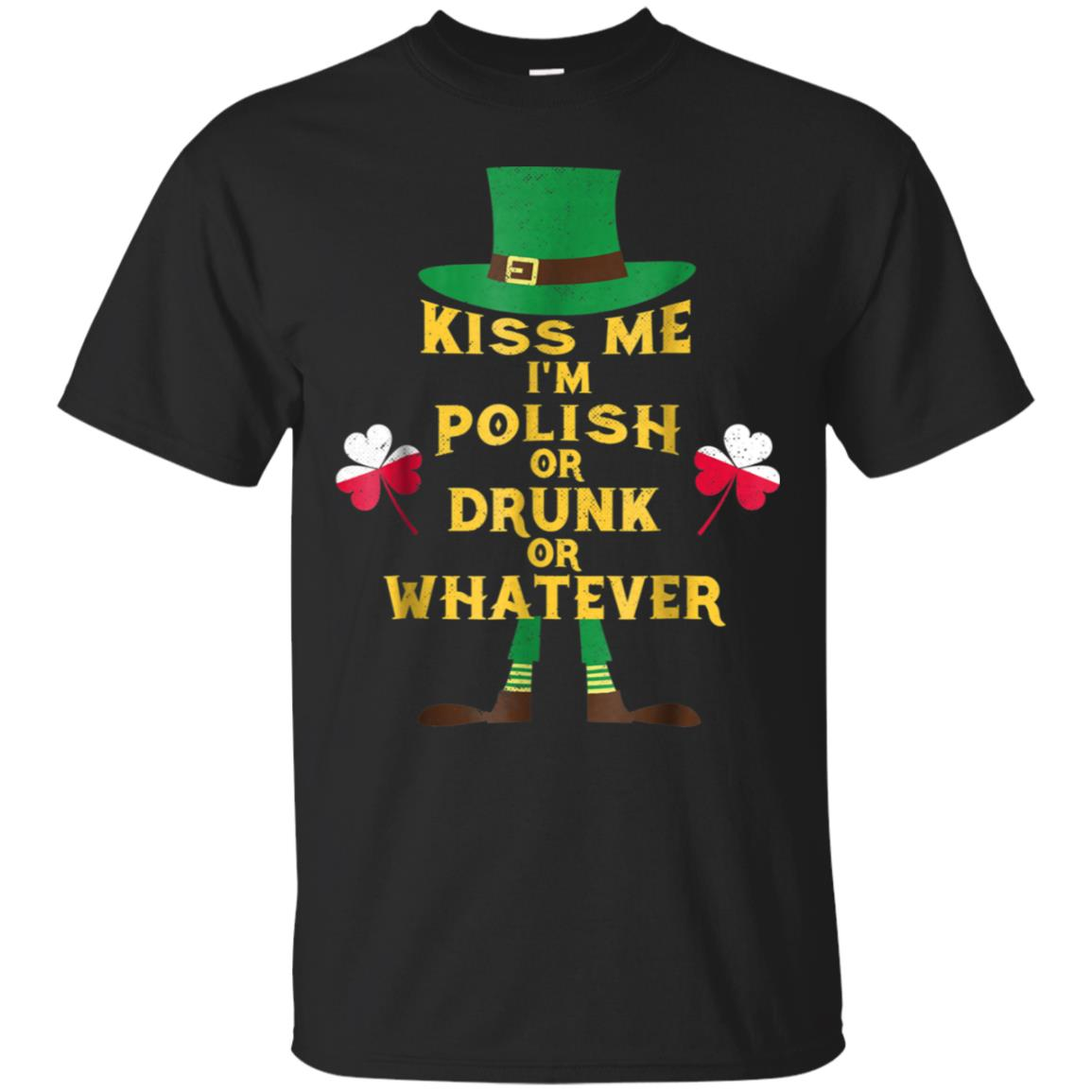 Kiss Me I'm Polish St Patrick's Day T-Shirt Irish Poland 99promocode