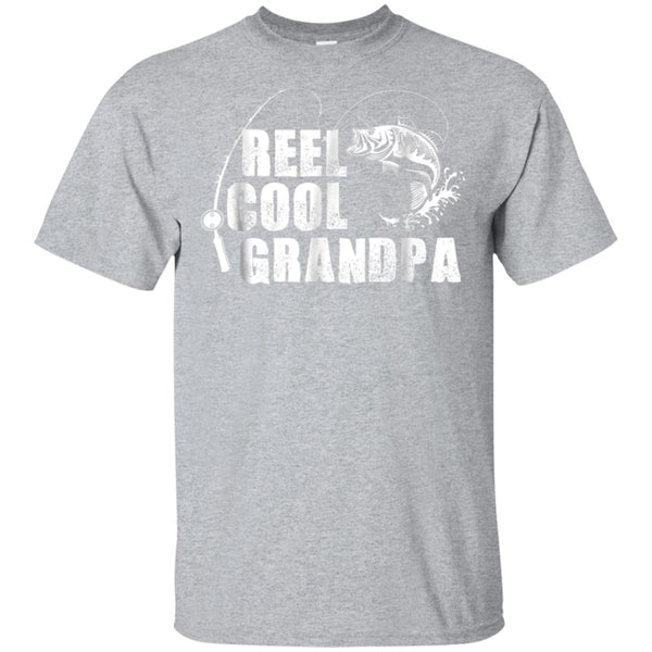 c69d91e2 Awesome reel cool grandpa fishing gift t shirt for dad or grandpa -  99promocode