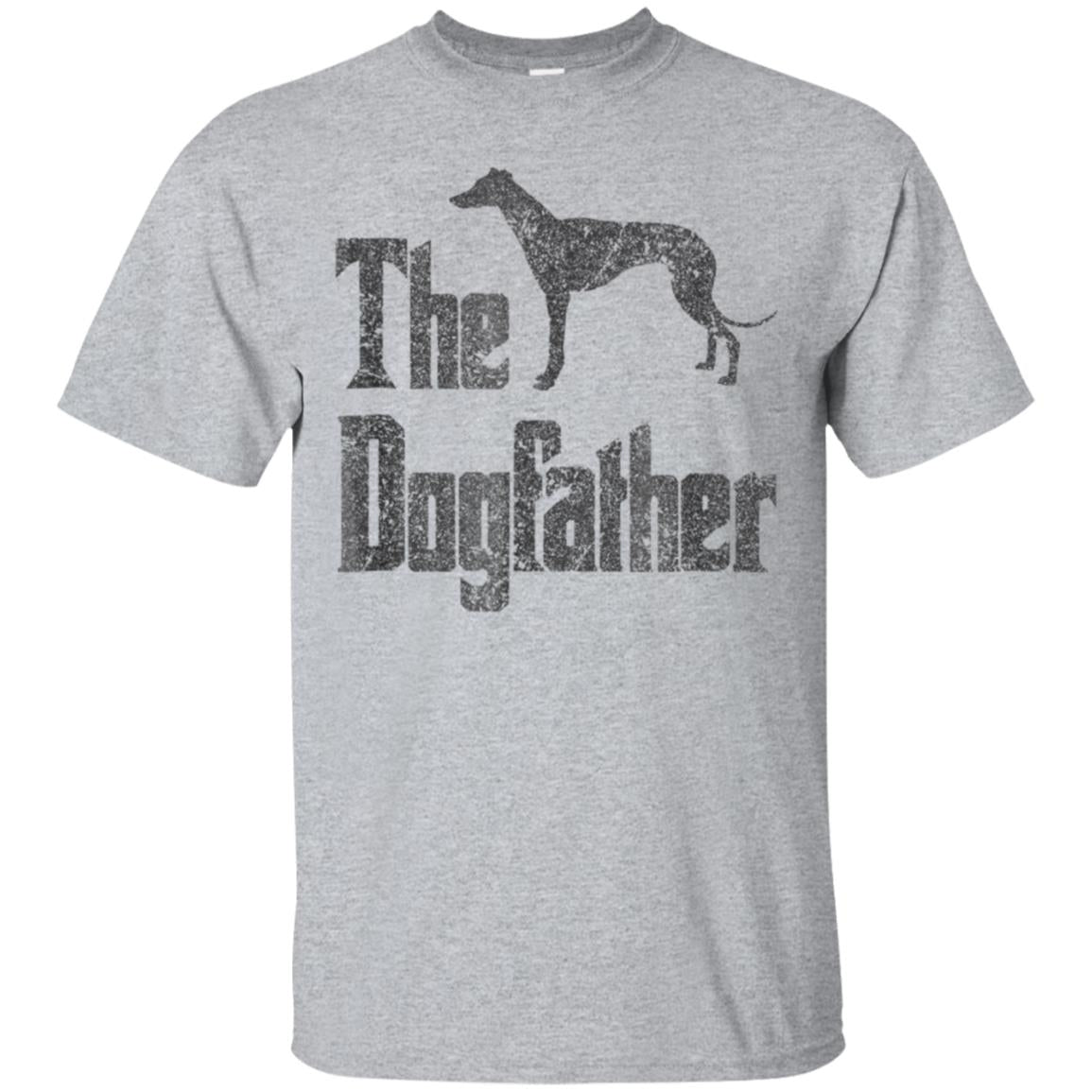 The Dogfather t-shirt, Greyhound silhouette, funny dog gift 99promocode