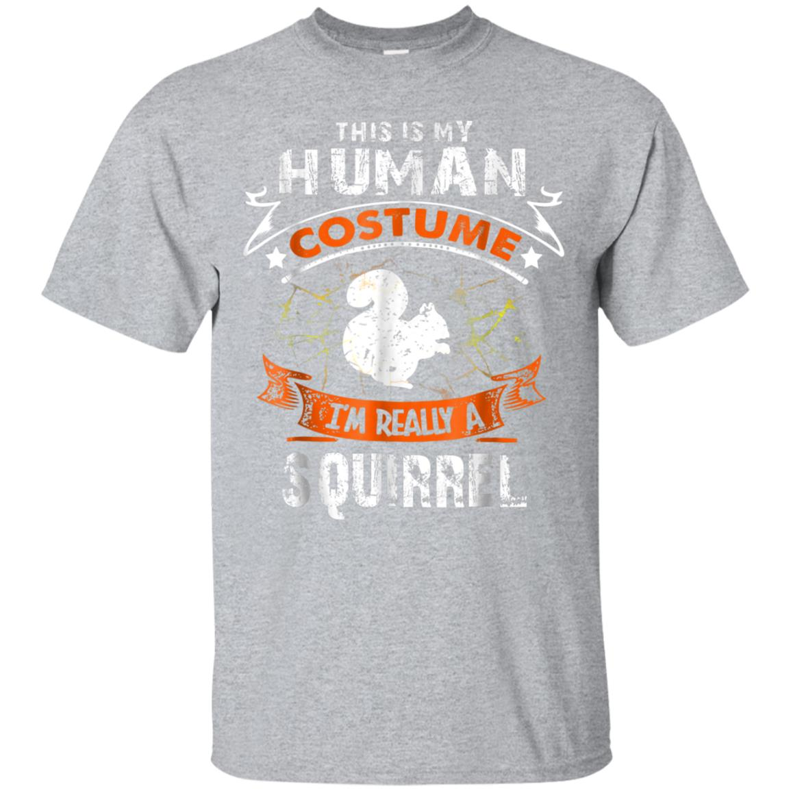 This Is My Human Costume Squirrel Scary Halloween Tshirt 99promocode