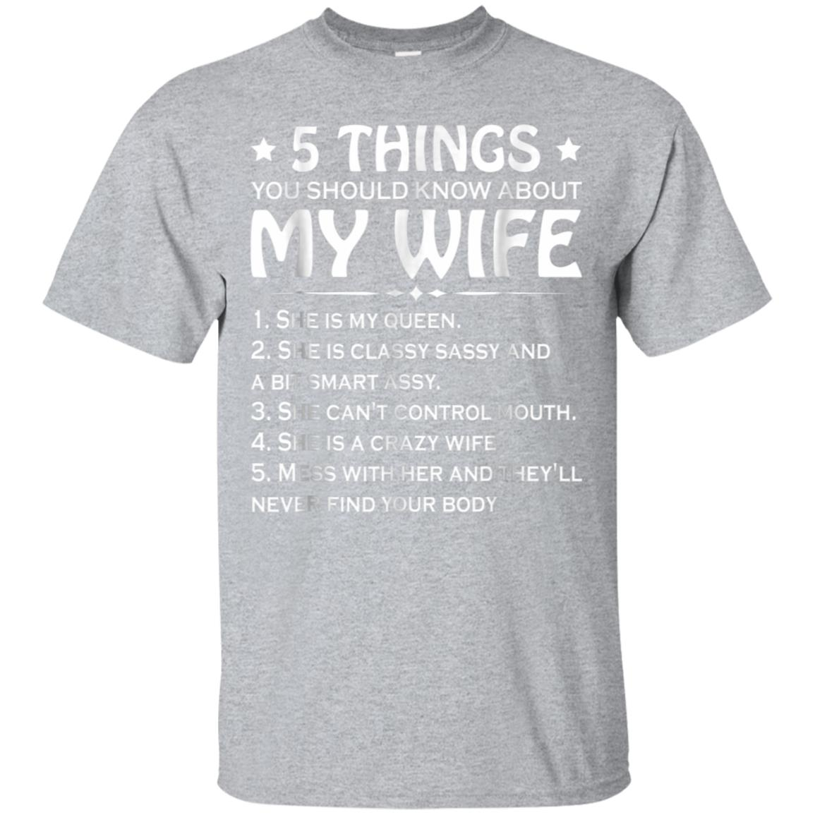 5 Things You Should Know About My Wife T-shirt 99promocode