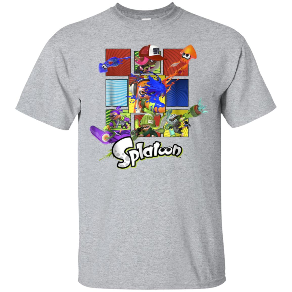 Nintendo Splatoon Inklings In Action Boxes Graphic T-Shirt 99promocode