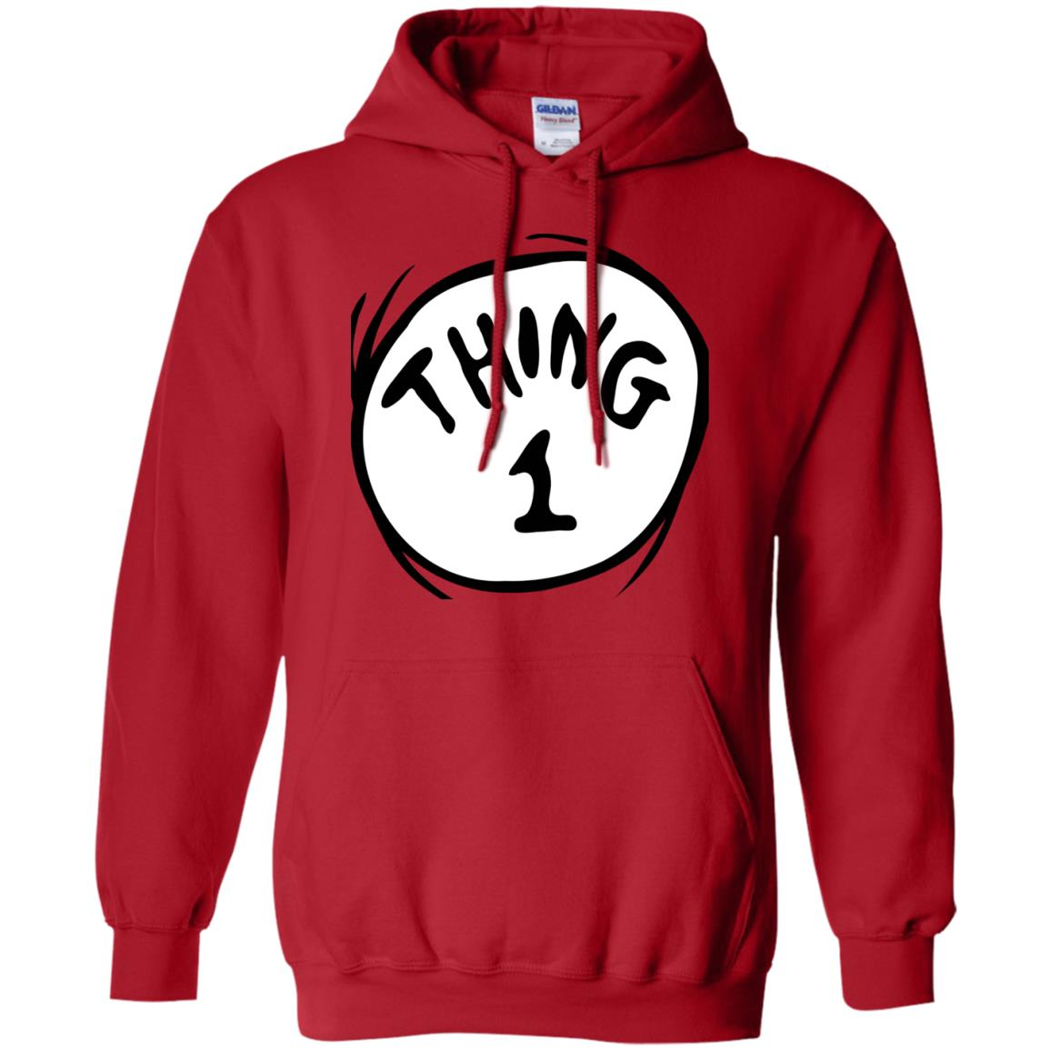 df6321be Awesome dr. seuss thing 1 emblem red t shirt - 99promocode