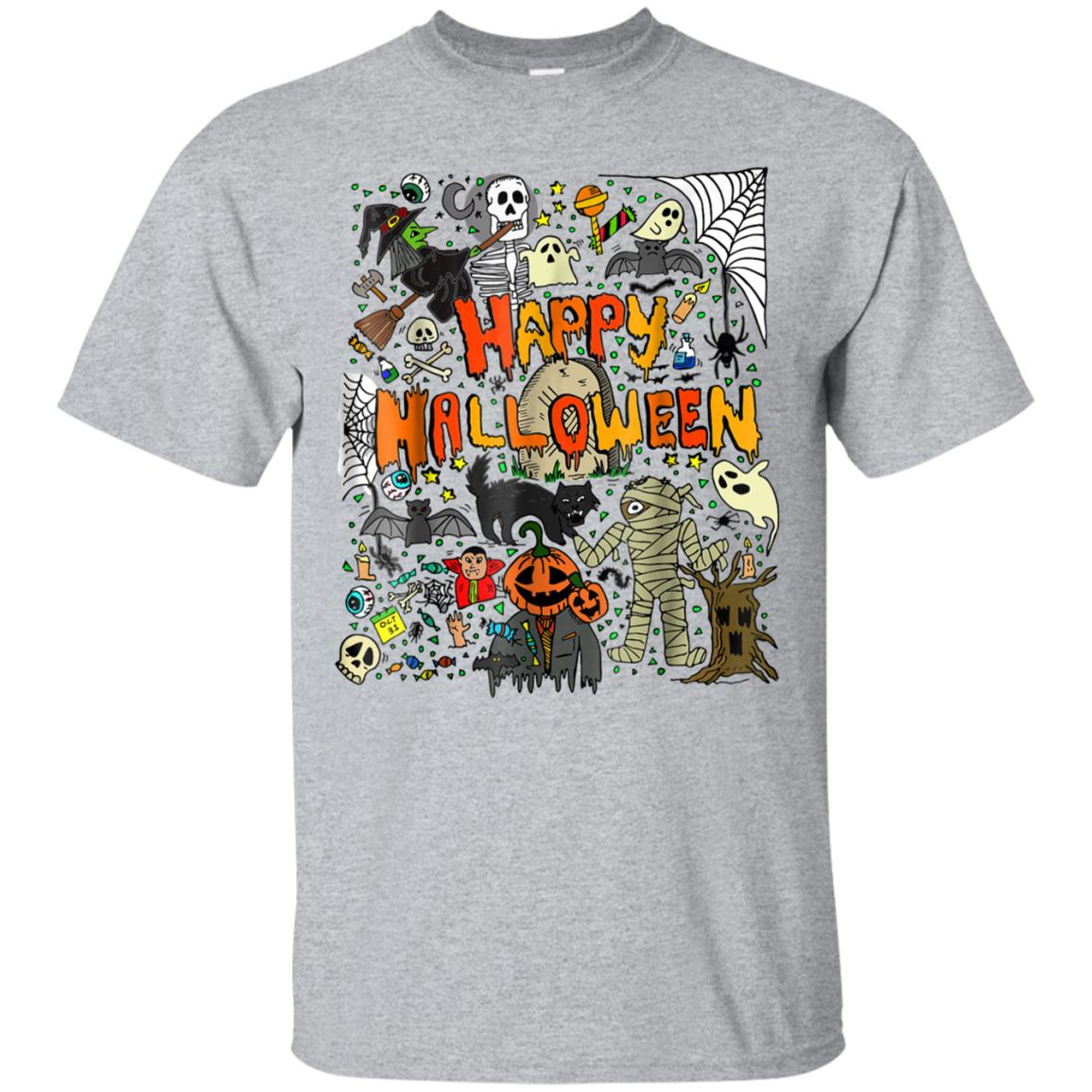 Happy Halloween Scary Retro T Shirt 99promocode