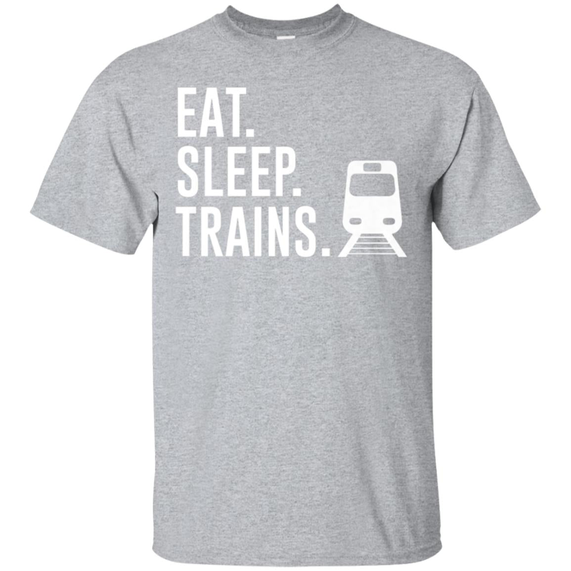 Eat Sleep Trains Railway Enthusiast Gift T-shirt 99promocode