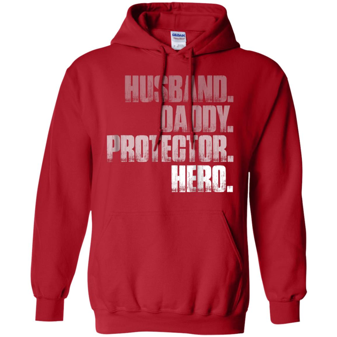 71813944 Awesome husband daddy protector hero t shirt cool father dad tee ...