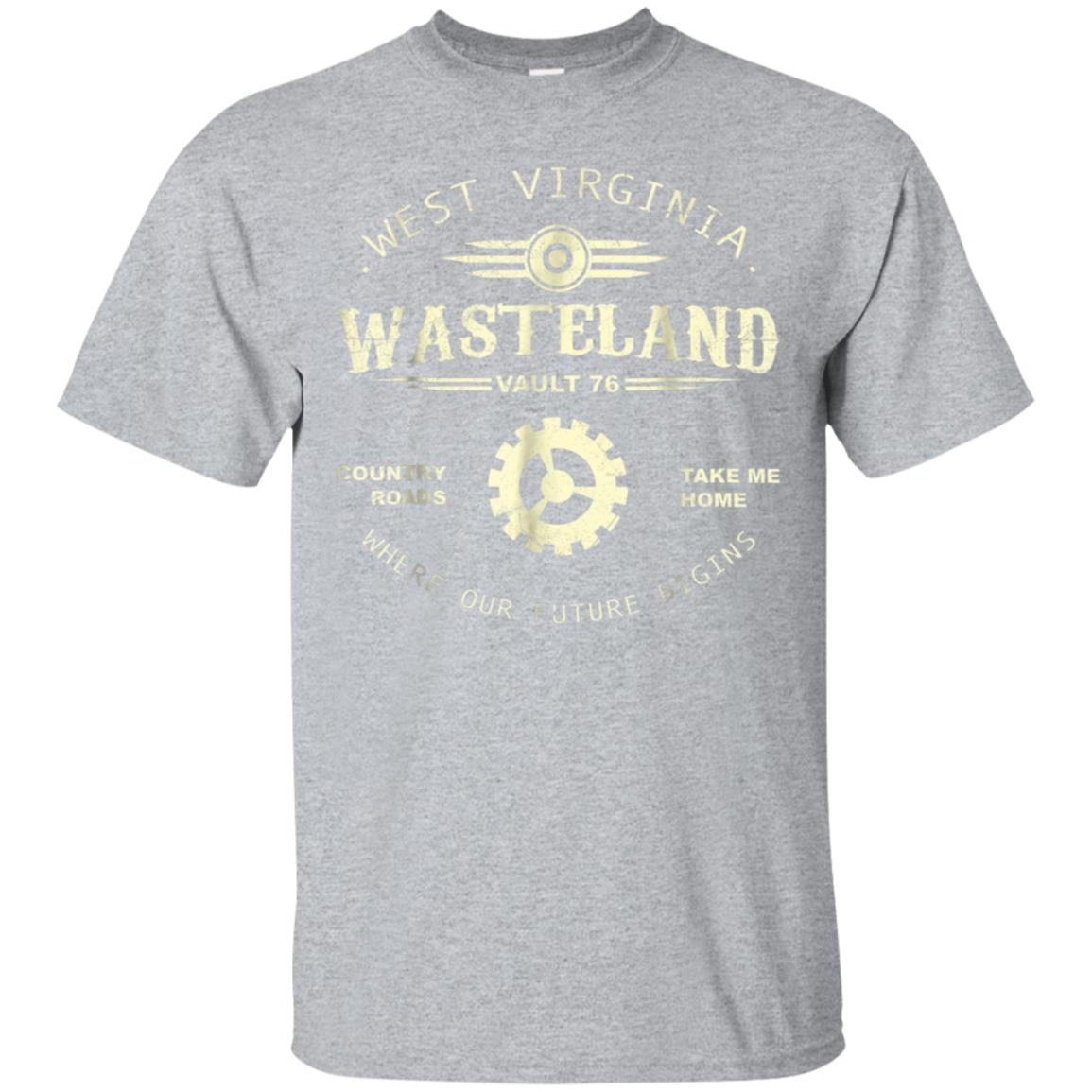Fall out 76 West Virginia Wasteland Country roads t-shirt 99promocode