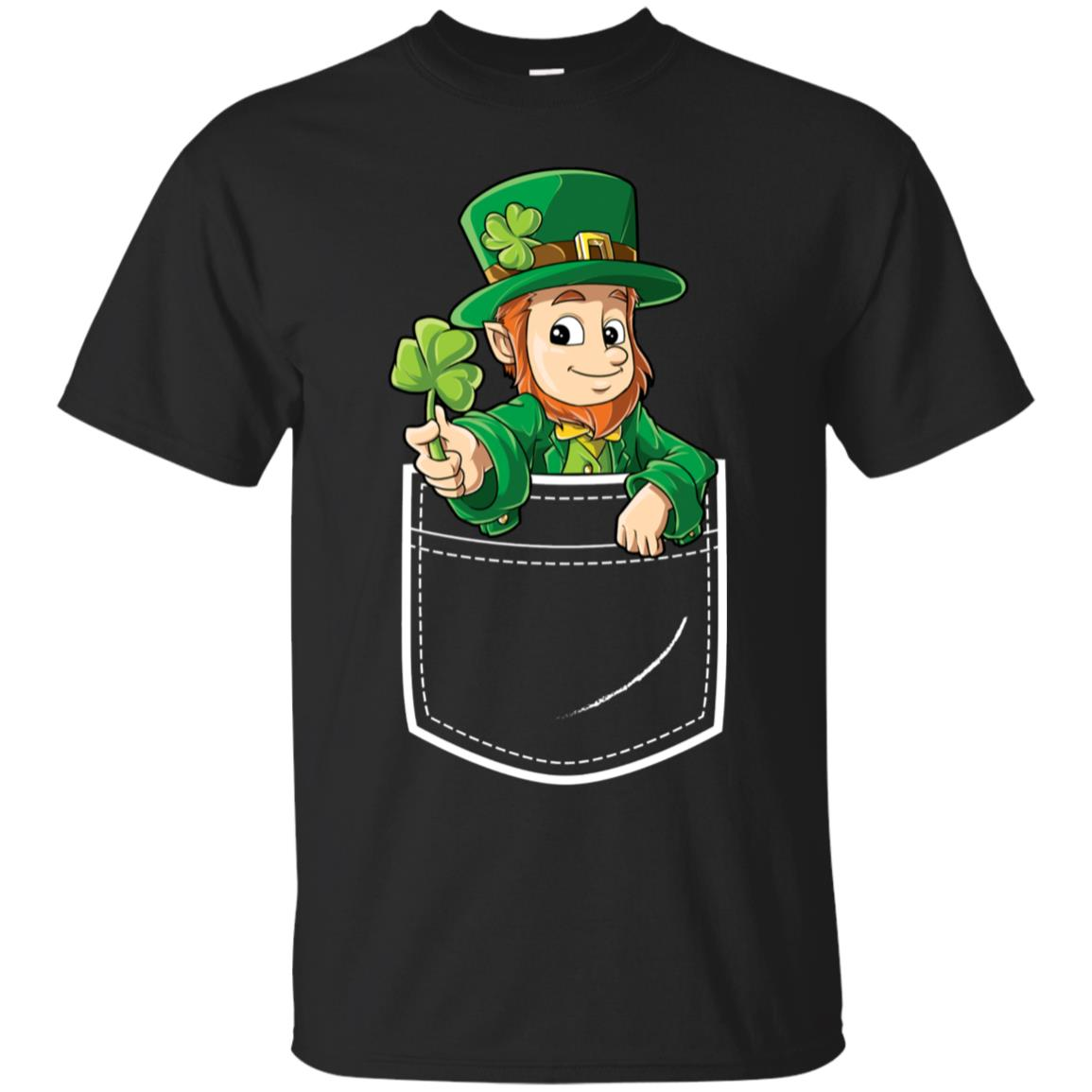 Leprechaun Pocket T Shirt St Patricks Day Boys Kids Women 99promocode