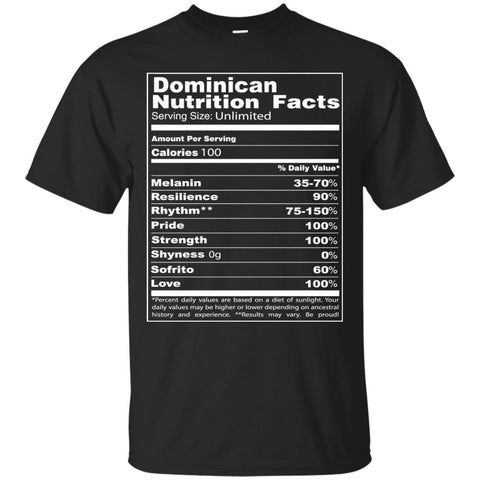 Dominican Nutrition Facts Shirt