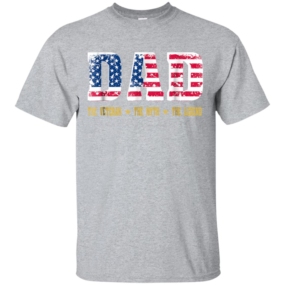 76500b58 Awesome dad the veteran the myth the legend t shirt - 99promocode