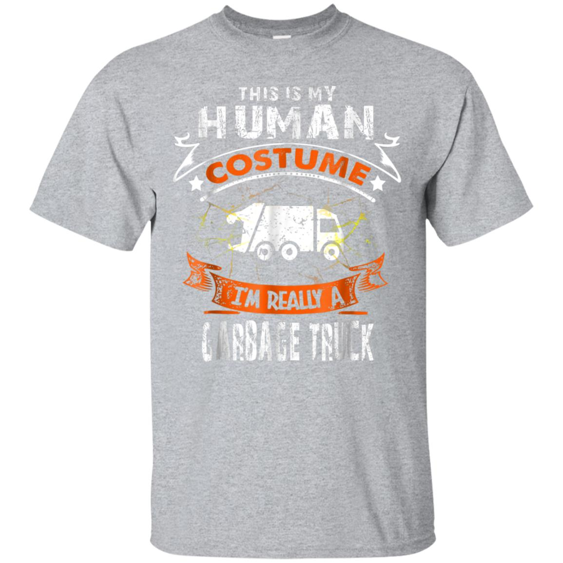 This Is My Human Costume Garbage Truck Scary Halloween Tee 99promocode