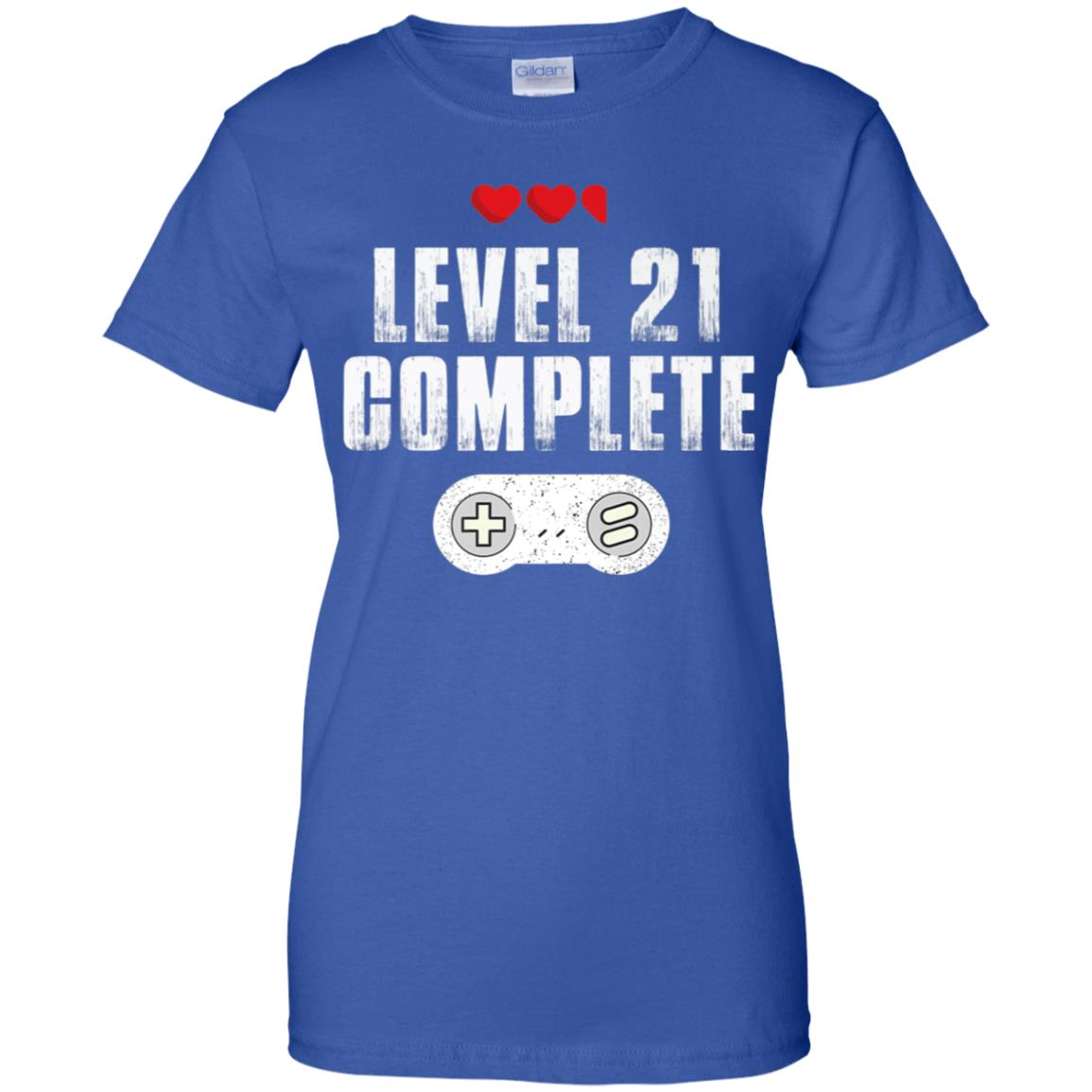 21st Birthday Gift Shirts For Him And Her Level 21 Complete